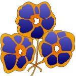 tres violetas