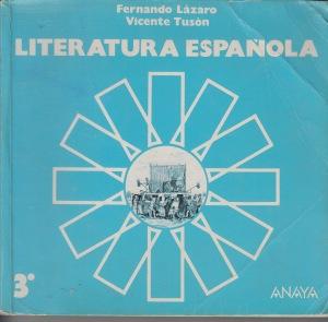 Anaya y sus libros de Literatura.. Un clásico